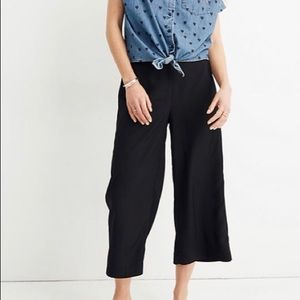 Madewell Black Hudson Wide Leg Crop Pants
